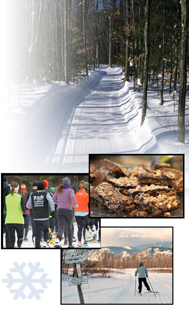 Join us on the trails or for one of our events - the Chocolate Festival or Snowshoe Scramble